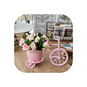 Artificial Flowers for Wedding Decoration Rose Daisy Fake Flowers Vase Set Easter Christmas Home Crafts Plants Party 15
