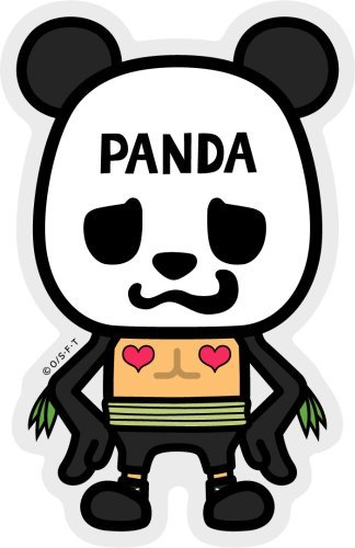 ONE PIECE (One Piece) ~ Pansonwakusu ''Pandaman'' collaboration sticker / LCS-014 by General sticker