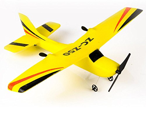 RC Airplane, Flingdress Z50 2.4G 2CH Gyro RTF Remote Control Glider 350mm Wingspan EPP Micro Indoor RC Airplane (Yellow)