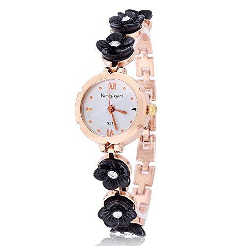 2014 Dropship Hot Sale Rose Gold Plated Quartz Flower Fashion Designer Analog Rhinestones Wristwatch Alloy Ladies Bracelet Watch 150003