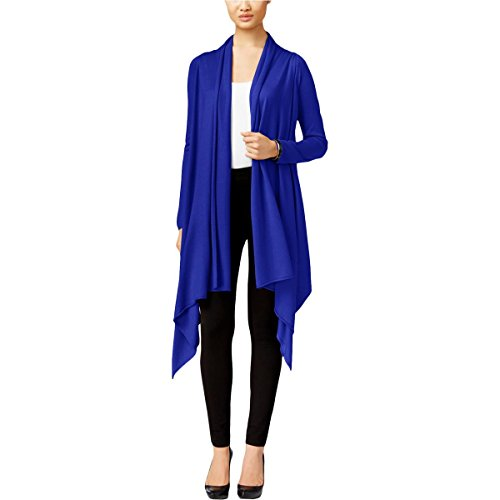 Cable & Gauge Womens Jersey 4-in-1 Wrap Sweater Blue P/S (Womens Gauge & Cable)