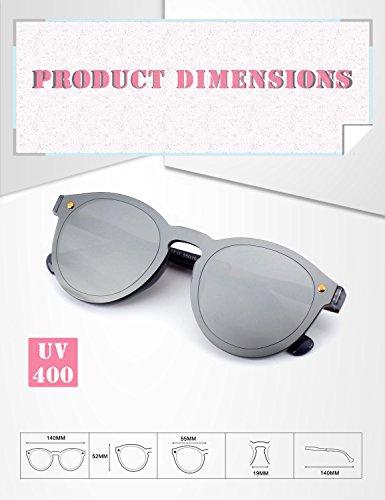 de Argenté jante Miroir MEO5 de soleil Lunettes Lens Futuriste sans bouclier GQUEEN Argenté Hw5UqP8