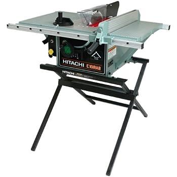 Hitachi C10ra2 10 Inch Portable Table Saw With Metal Stand