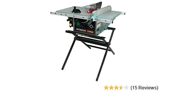 Hitachi c10ra2 10 inch portable table saw with metal stand hitachi c10ra2 10 inch portable table saw with metal stand discontinued by manufacturer power table saws amazon greentooth Gallery
