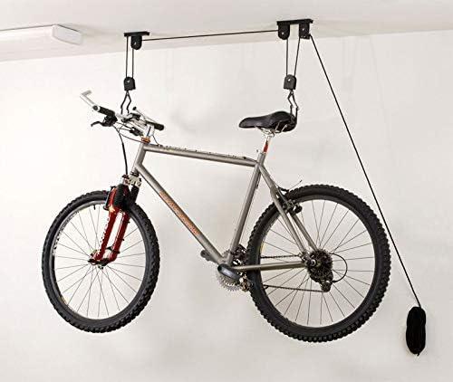 Bike Bicycle Lift Ceiling Mounted Hoist Storage Garage Hanger Pulley Rack New