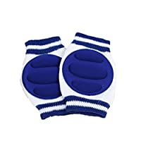 Floralby Baby Anti-Slip Knee Pads Safety Crawling Protective Elbow Cushion Leg Warmer (Dark Blue)