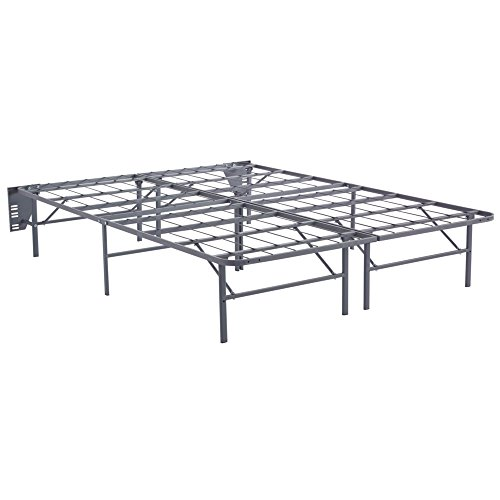 Ashley Furniture Signature Design - Better than a Boxspring Mattress Riser - Under Bed Storage Space - Queen - Gray