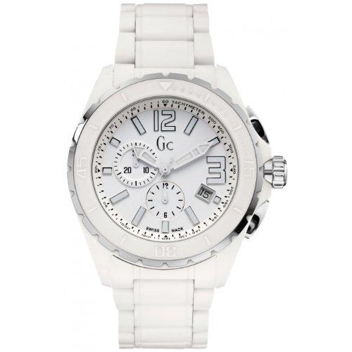 GUESS Men's XXL Phantom White Ceramic Timepiece