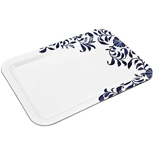 (Denby MLB-915 Malmo Bloom Large Rectangular Platter, Blue, Medium)
