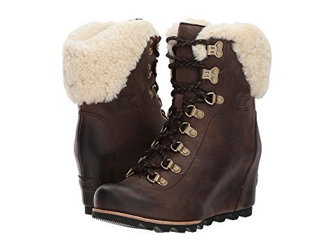 Sorel Conquest Wedge Shearling Boot - Womens Tobacco/Black, 9.5 -