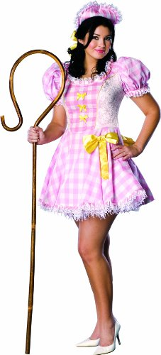 Secret Wishes Full Figure Bo Peep Costume, Pink - Adult Lamb Costumes