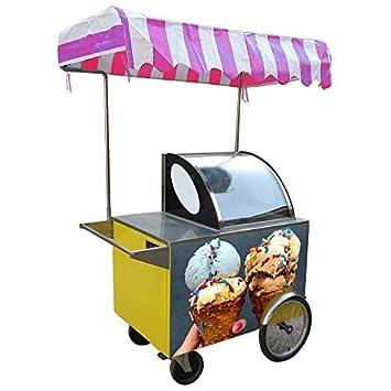 Triciclo de venta de helados/Carro de empuje manual de helados/Carro de comida