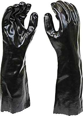 "West Chester 12018 Chemical Resistant PVC Coated Work Gloves: 18"" Length, One Size Fits Most"