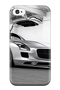 Excellent Iphone 4/4s Case Tpu Cover Back Skin Protector Mercedes Sls Amg 28