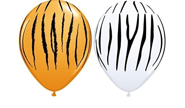 "20 x Wild Berry Pink Zebra Stripes Animal Print Qualatex 11/"" Latex Balloons"