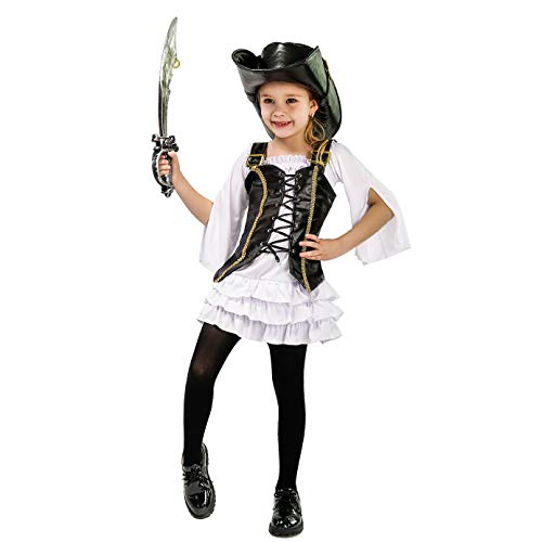 Girl's Cute Pirate Fancy Dress Costume (10-12) -