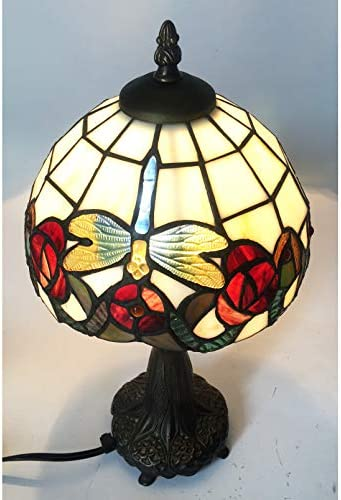 Tiffany lamp Dragonfly HMJ8029 Stained Glass Roses Tiffany Style 8″ Table lamp Dragonfly