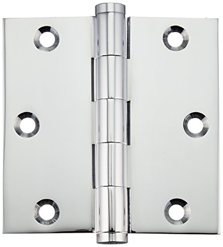 Deltana Polished Hinges (Deltana DSB3526 Solid Brass 3 1/2-Inch x 3 1/2-Inch Square Hinge)