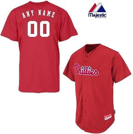 7b13123bf Philadelphia Phillies Full-Button BLANK BACK Major League Baseball Cool-Base  Replica MLB Jersey