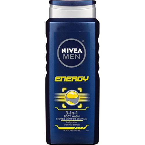 NIVEA Men Energy 3-in-1 Body Wash 16.9 Fluid Ounce