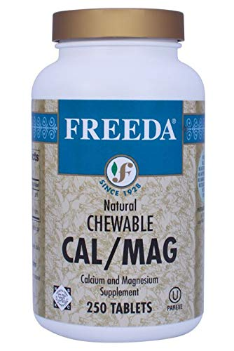 Freeda Vitamins Kosher Natural Chewable Cal/Mag - 250 Tablets Calcium and Magnesium Supplement