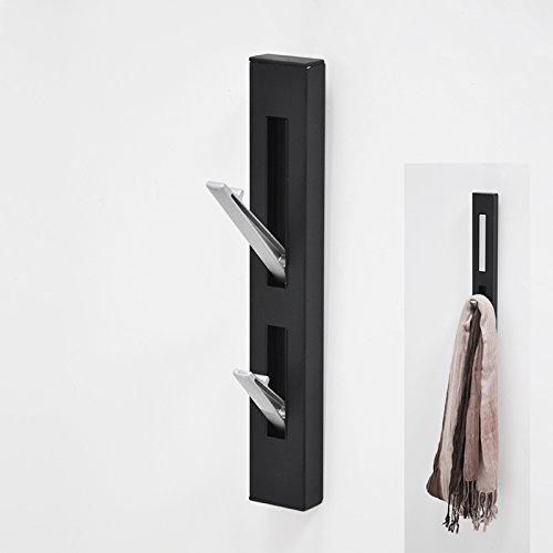 Nero - Perchero de pared con ganchos plegables, color negro ...