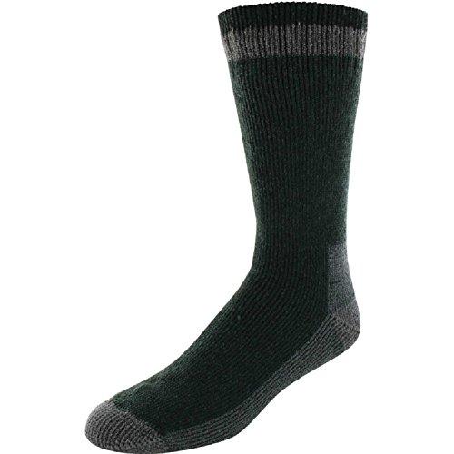 (Yaktrax Men's Outdoor Cabin Crew Socks - Pineneedle)