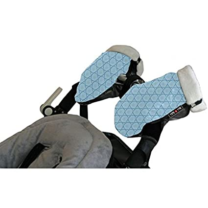 Tris&Ton Manoplas impermeables invierno silla de paseo Modelo Azul Celeste, guantes prueba de viento forro