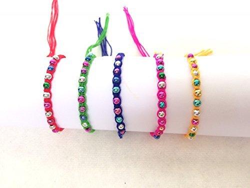 Handmade Thai Friendship Handmade Rope Knit Wrist Ankle Bracelets by Audomna shop (F0048).