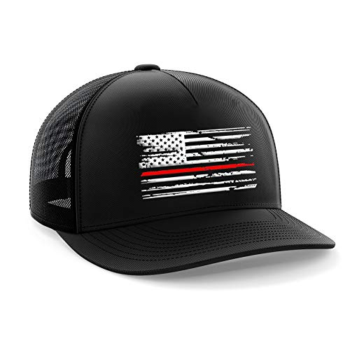 (Tactical Pro Supply Red Line Flag Snapback Hat)
