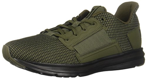 PUMA Men's Enzo Street Knit Sneaker, Forest Night Black, 9 M US