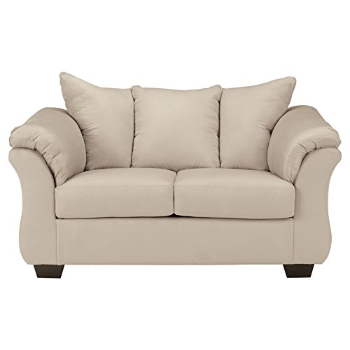 Signature Design by Ashley - Darcy Microfiber Loveseat, Stone