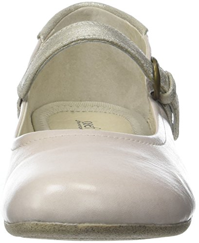 Fiona 25 Josef Closed Women's Seibel Ballet kombi Flats Creme Elfenbein Toe wBx7BE