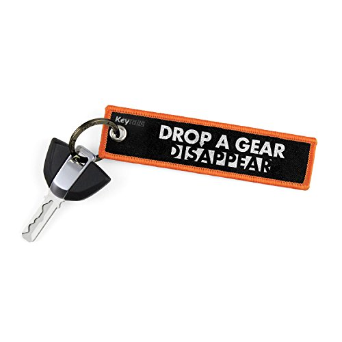 KEYTAILS Keychains, Premium Quality Key Tag for Motorcycle, Car, Scooter, ATV, UTV [Drop A Gear & ()