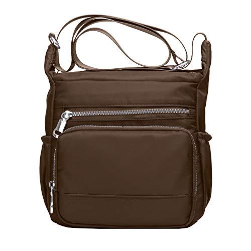 (Purse and Handbags for Women,Volganik Rock Multi Pocket Crossbody Bag Nylon Pocketbooks Shoulder Side Bag (Coffee))