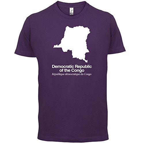 Democratic Republic of the Congo / Demokratische Republik Kongo Silhouette - Herren T-Shirt - Lila - XL