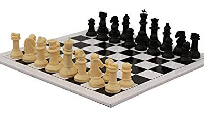 SouvNear Don't Tell Anyone Series - 10.5 Inch Beginners' Hand-Crafted Chess Set Board Game - Perfect Indoor/Outdoor Game - Stock Clearance Items Under 10 Dollars