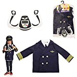Dress 2 Play Pilot Pretend Costume, Dress up Set with Accessories