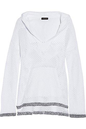 Rag & Bone Thea White Knit Hooded Sweater M by rag & bone