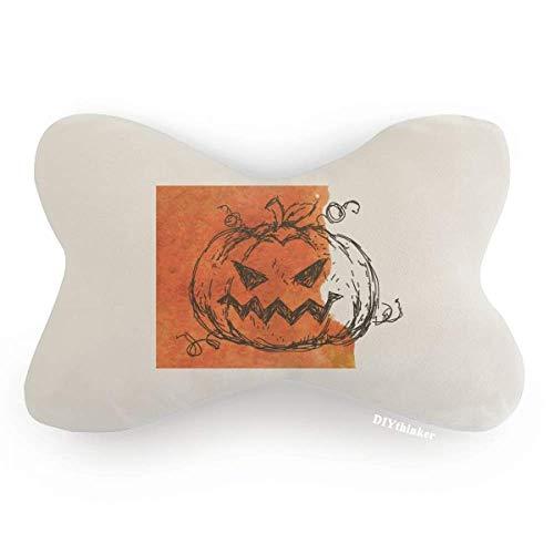 - DIYthinker Hand Painted Pumpkin of Halloween Car Neck Pillow Headrest Support Cushion Pad