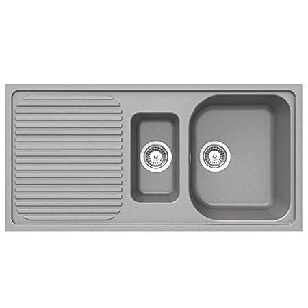 Schock Lithos D150 1.5 Bowl Croma Grey Granite Kitchen Sink & Waste ...