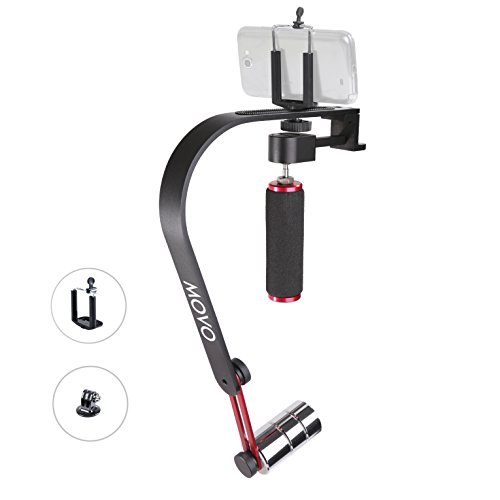 Movo Large Handheld Video Stabilizer System with Counterweights for GoPro