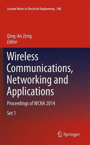 Wireless Communications, Networking and Applications: Proceedings of WCNA 2014 (Lecture Notes in Electrical Engineering)-cover
