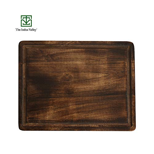 The Indus Valley Mango Wood Chopping Board for Kitchen [ X-Large / 18 Inch/Rectangle Cutting Board ] Suitable for Fruits, Vegetables, Meat, Fish & Cheese Price & Reviews
