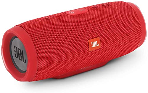 Renewed  JBL Charge 3 Powerful Portable Speaker with Built in Powerbank  Red