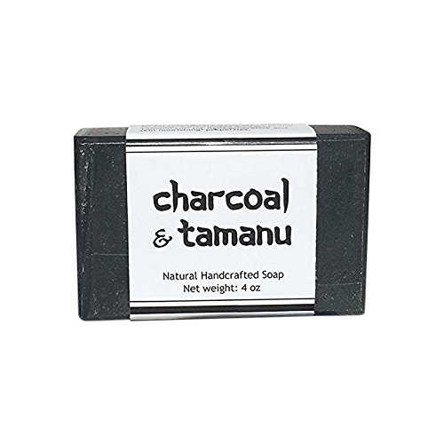 Activated Charcoal Bar Soap - All Natural Detox Black Soap with Shea Butter, Cocoa Butter, Coconut Oil, Olive Oil, Tea Tree Oil and Tamanu Oil to Keep Skin Soft, Clear - Grandpas Butter Soap Shea