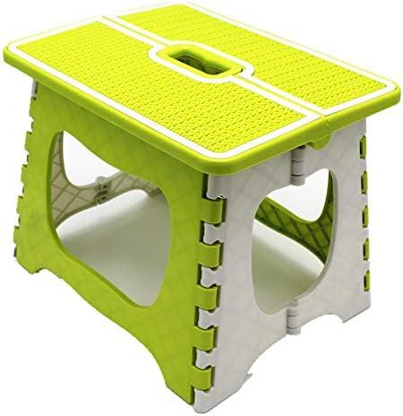 LSBQQ Taburete Plegable Plástico Escalera Antideslizante Ahorrar Espacio Soporte Infantil Reposapiés Resistente Ideal para El Hogar El Jardín O El Campamento Portátil,Verde,S: Amazon.es: Hogar