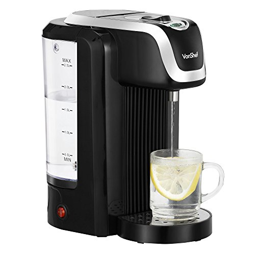 VonShef Hot Water Dispenser Instant Kettle/Catering Urn, Black, 2.5 Litre Capacity, Drip Tray Maximum 2600W