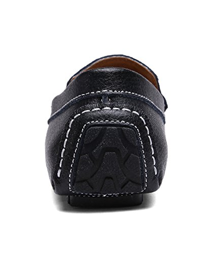 Amazon.com | SK Studio Mens Comfort Driving Genuine Leather Flats Shoes | Loafers & Slip-Ons