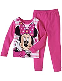 Minnie Mouse Baby Toddler Girl Cotton Tight Fit Pajama, 2pc Set